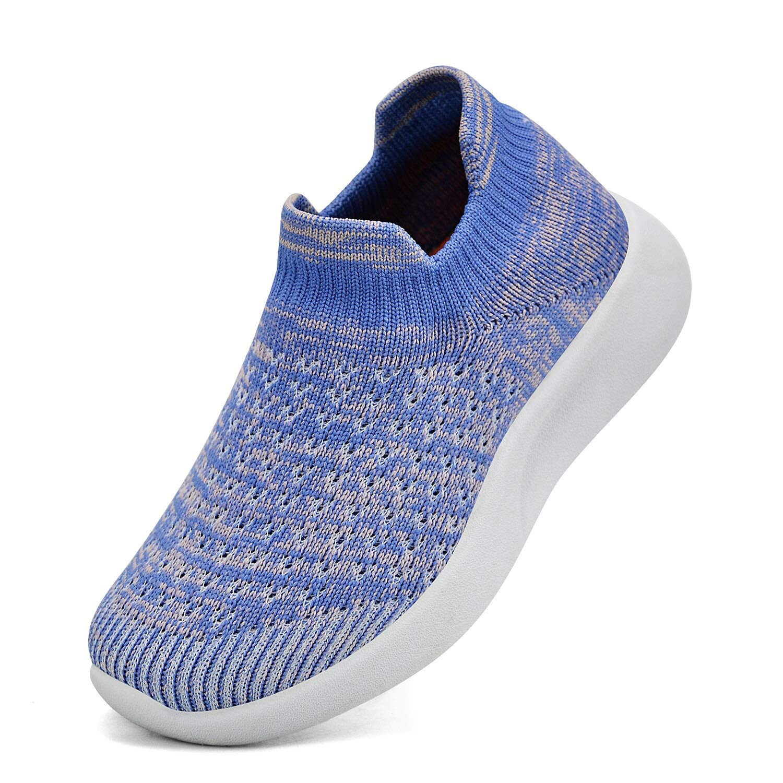 MARSVOVO Girls Sneakers Lightweight Breathable Mesh Ultra Athletic Walking Road Running Shoe Dark Red 5.5 Big Kid by MARSVOVO