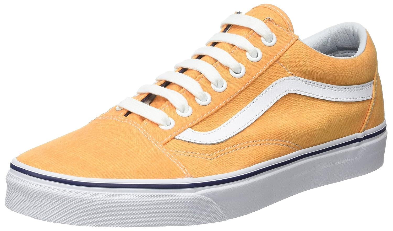Vans Herren UA Old Skool Sneaker  44.5 EU|Gelb (Washed Canvas Citrus/Crown Blue)