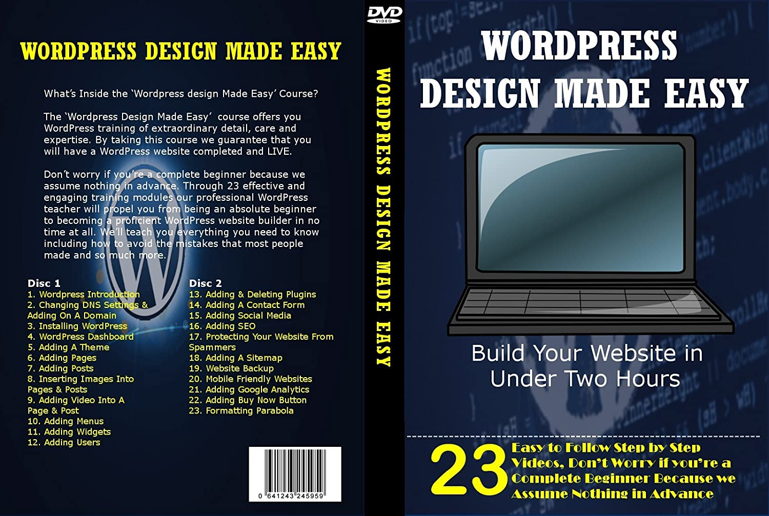 robelly ltd bring you wordpress design made easy build your website in under two hours 1 wordpress introduction 2 changing dns setting adding on a