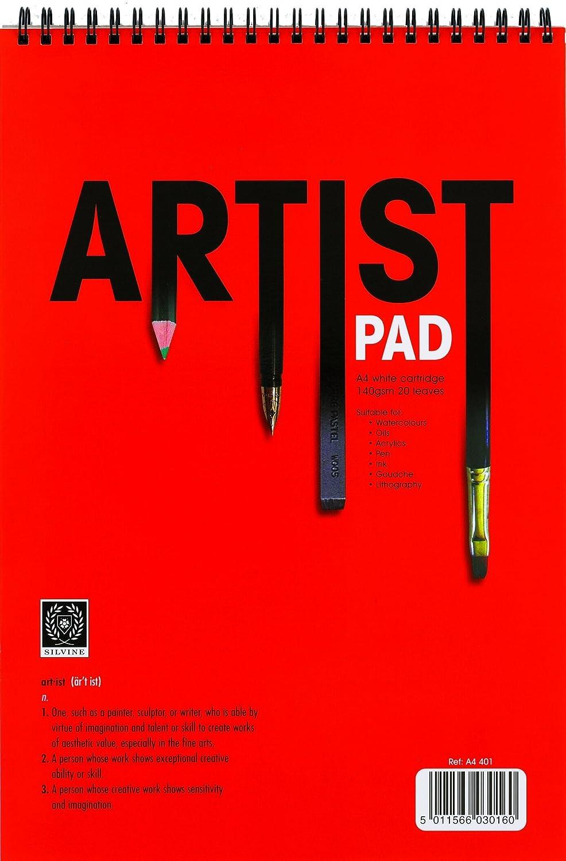 Silvine A4 artists pad 140gsm cartridge paper x 1 single pad AbbeyShake