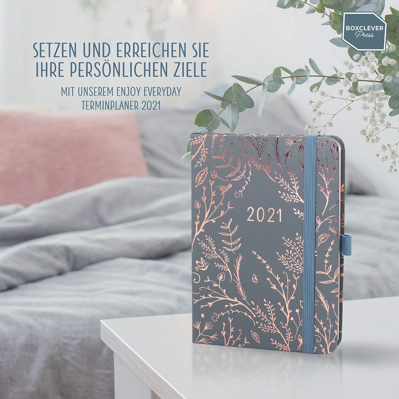 Boxclever Press Everyday Kalender 2021 To-do-Listen /& Monats/übersichten Taschenkalender 2021 mit Wochenansicht Planer 2021 mit gepunkteten Notizseiten Sherbet Terminplaner 2021 von Jan.-Dez./'21