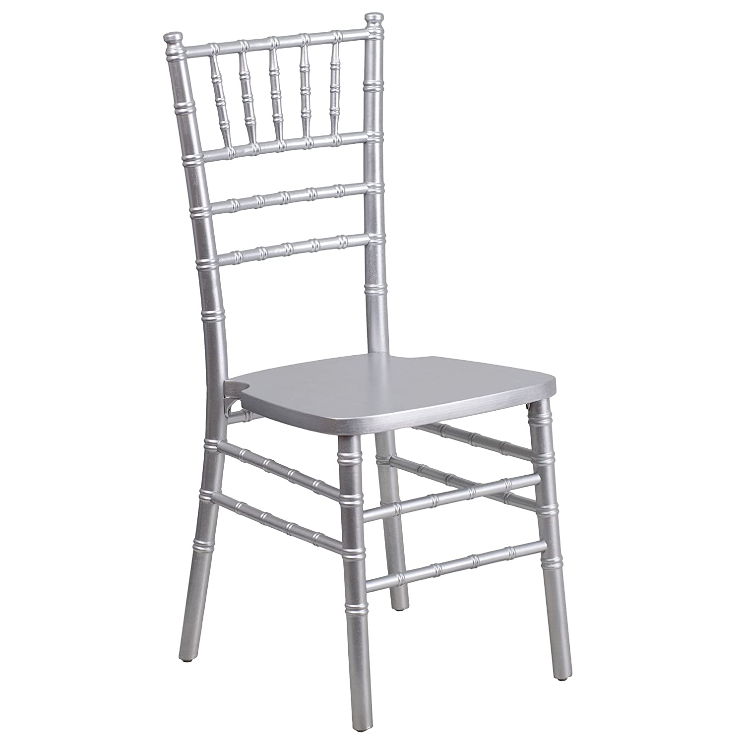 Flash Furniture HERCULES Series Silver Wood Chiavari Chair