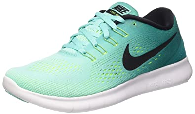 Nike Womens Free RN Running Shoes Hyper Turquoise/Rio Teal/Volt 7 B(