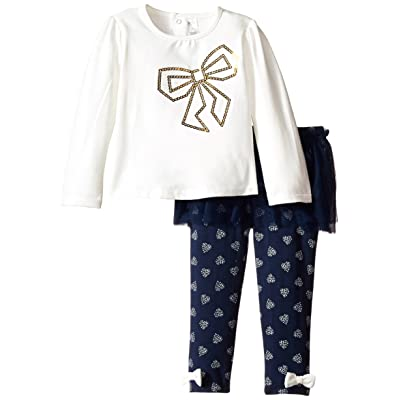 Petit Lem Baby-Girls Newborn Dots Garden Tunic and Legging Set