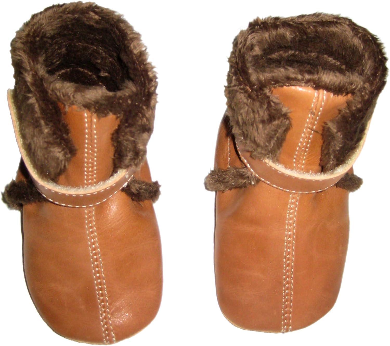 Anna und Paul 1101//34 gef/ütterte Baby Lauflernschuhe Eskimo in Cognac Braun Gr S-L