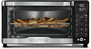 Gourmia GTF7355 12-in-1 Multi-function Digital Air Fryer Oven - 12 Cooking Presets - Dehydrate Mode - Fry Basket, Oven Rack, Baking Pan & Crumb Tray, Included + Recipe Book