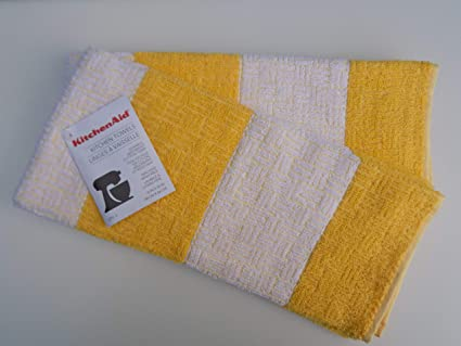 Amazon.com: KitchenAid Buttercup Yellow Kitchen Towels - One ...