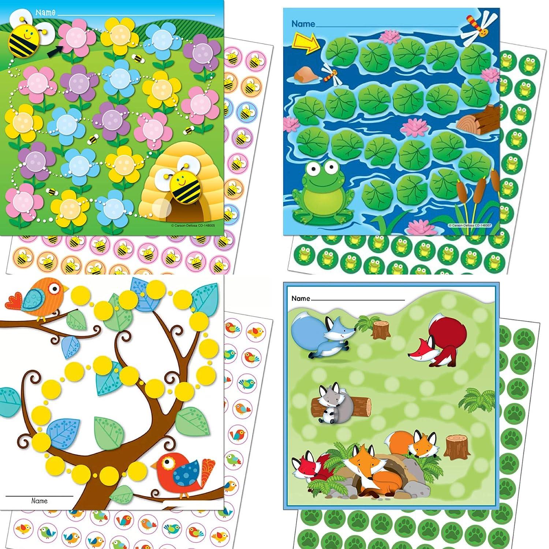 Belohnung für Kinder mit 4 x Belohnungssystem TIERE/bunte Aufkleber in Papiervorlage kleben ☝️ LK Trend & Style