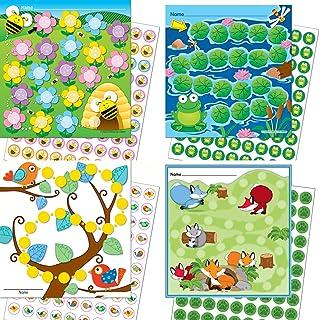 Premio per bambini con 4X premio SISTEMA animali/Bunte adesivi in carta Vorlage incollare ☝ LK Trend & Style