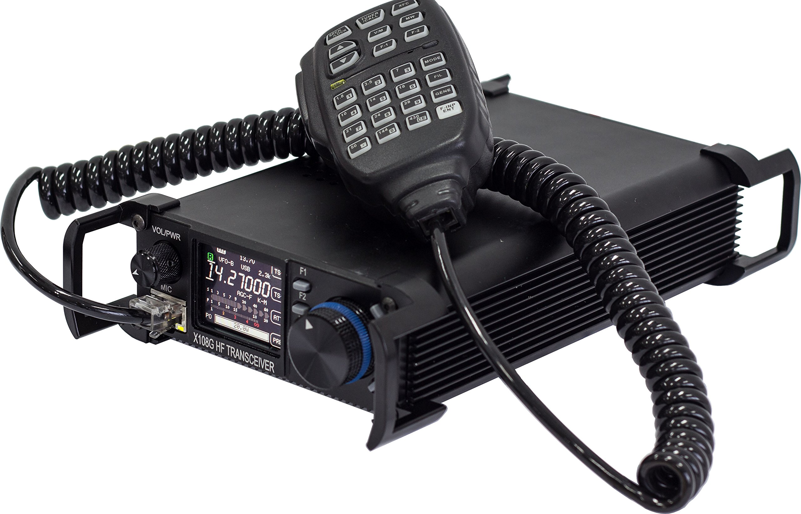 Xiegu X-108G QRP Transceiver Outdoor Version 9 Bands AM/SSB/CW 1-20 watts Black by Xiegu