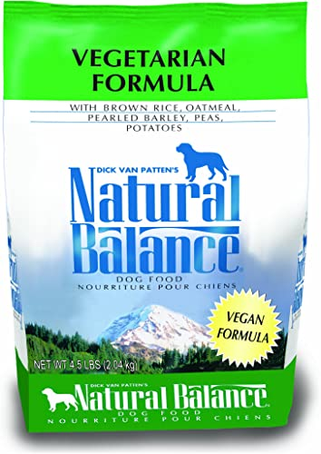 Natural Balance Vegetarian Formula Dry Dog Food, Brown Rice, Oatmeal, Pearled Barley, Peas Potatoes, 4.5 Pounds
