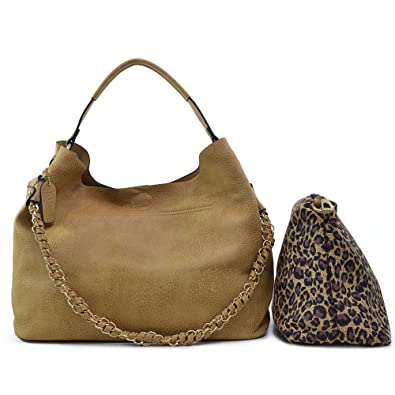 ca0293c849 Amazon.com  Dasein 2-in-1 Faux Leather Hobo with Organizer Bag - Beige   Shoes