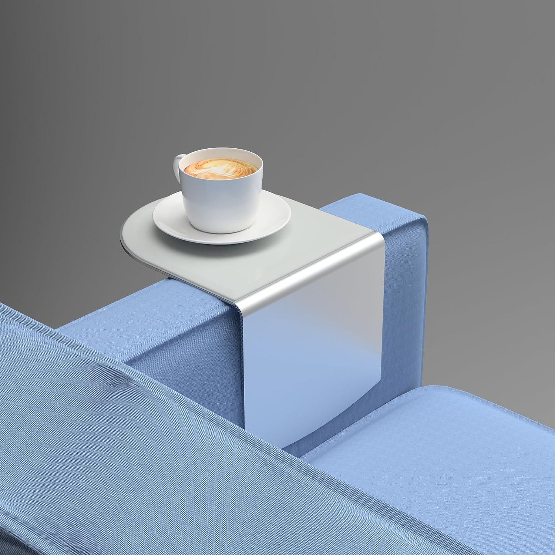 Wingz Table Modern Aluminum Armrest Table Light Gray Cover