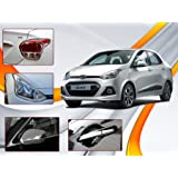 Auto Pearl - Chrome Plated Car Accessories For Hyundai Xcent Set Of 4 Pcs