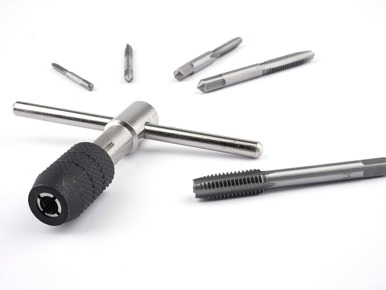 GSR Gewindeschneider-Satz 6 tlg. M3-M8 WS [08820000] | Einschnittgewindebohrer + Werkzeughalter + kostenloser Gewindeschneid-Anleitung