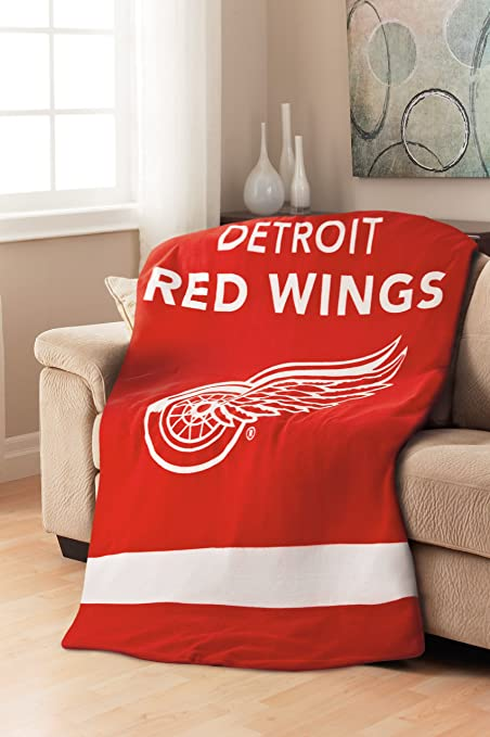 Sunbeam Detroit Red Wings NHL Heated Throw Blanket Amazonca Home Awesome Red Wings Throw Blanket