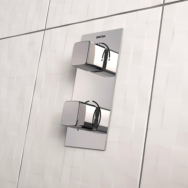 cromado Bristan SHCDIV COB C cobalto empotrado termost/ático Dual Control v/álvula de ducha con desviador Integral