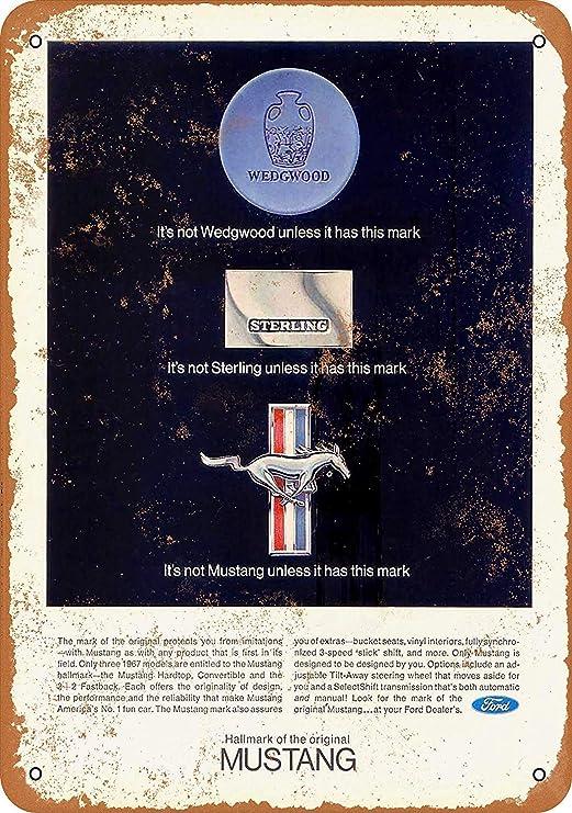Fluse 1967 Ford Mustang 3 Vintage Metal Art Chic Retro Metal ...