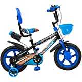Maskman 14T Single Speed Kids Cycles for 3 to 5 Years Boys & Girls Semi Assembled with Training Wheels