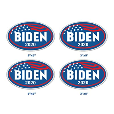 Biden 2020 Set of 4 Stickers for President 2020 Bumper Decal for Car Wall Art Banner 5 x 3 in: Kitchen & Dining [5Bkhe1500688]