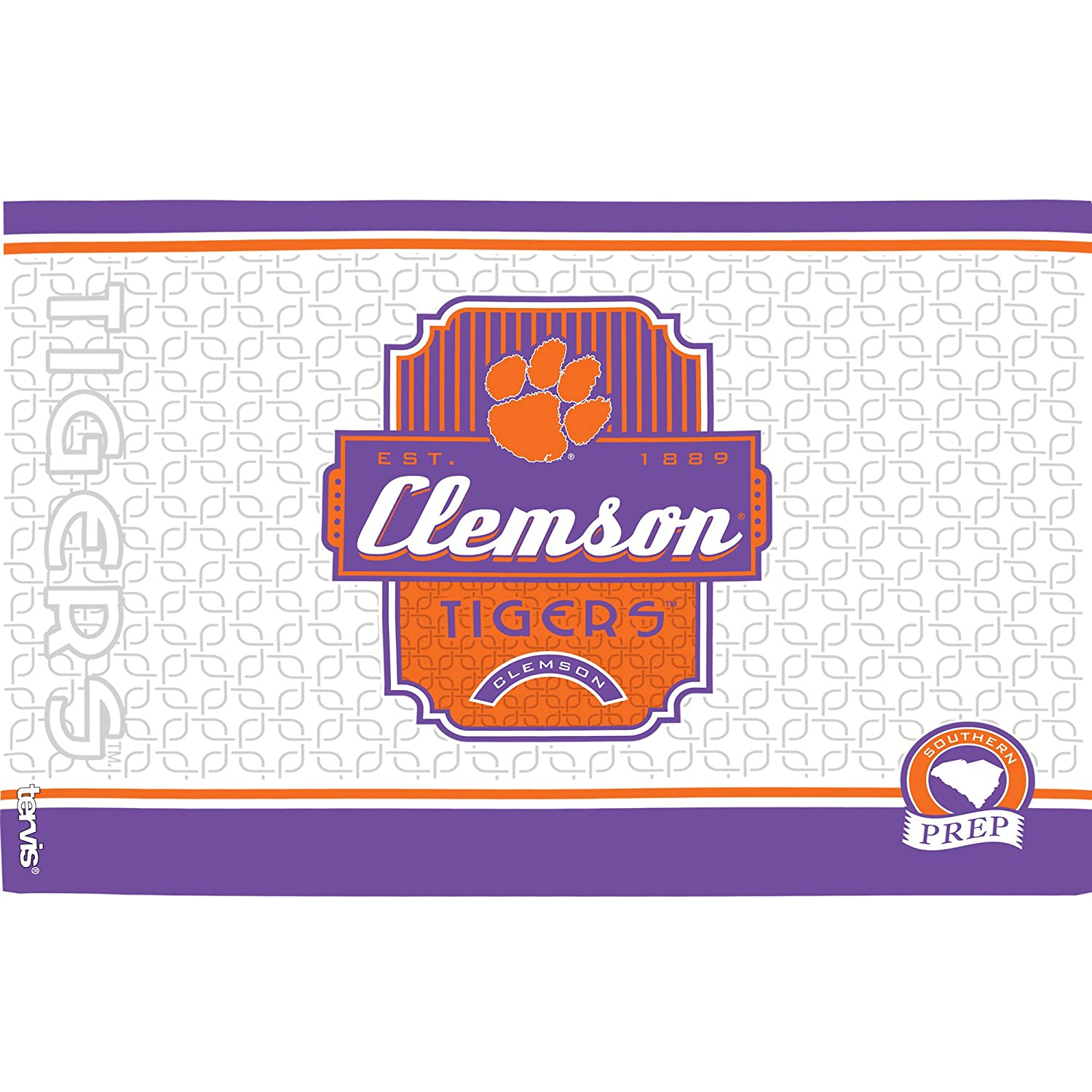 Tervis 1228338 Clemson Tigers Pregame Prep Insulated Tumbler With Wrap 16 oz Clear
