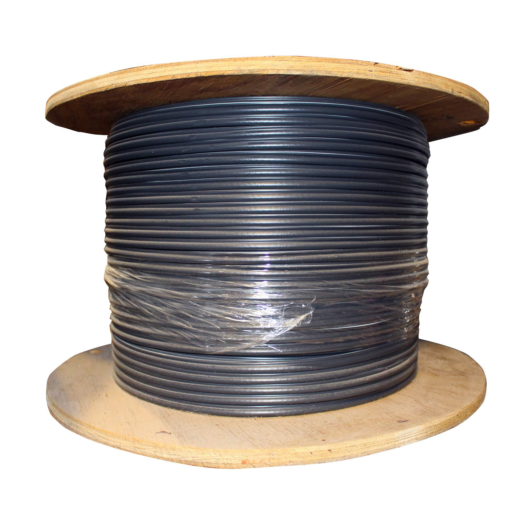 Commscope 770021003 Coaxial RG6 Drop Cable, Fiber Tracer, 18-AWG, CATV SATV, Black, 1000-Ft