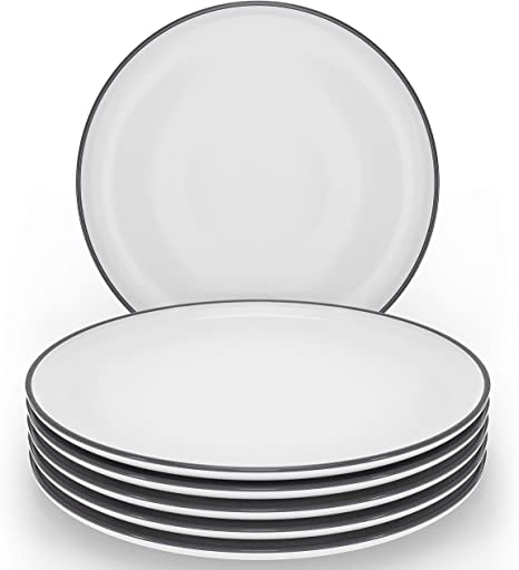 29++ Teller weiss schwarzer rand Sammlung