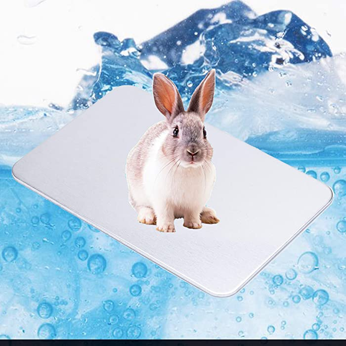Ajaa Rabbit Cooling Pad, Chinchilla Hamster Cooling Pad Pet Cooling Mat for Bunny Hamster Puppy Kitten Guinea Pig & Other Small Pets Stay Cool This Summer - Pet Cool Plate Ice Bed