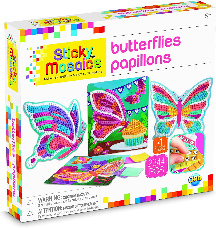 The Orb Factory Sticky Mosaics Butterfly Tiara Kit