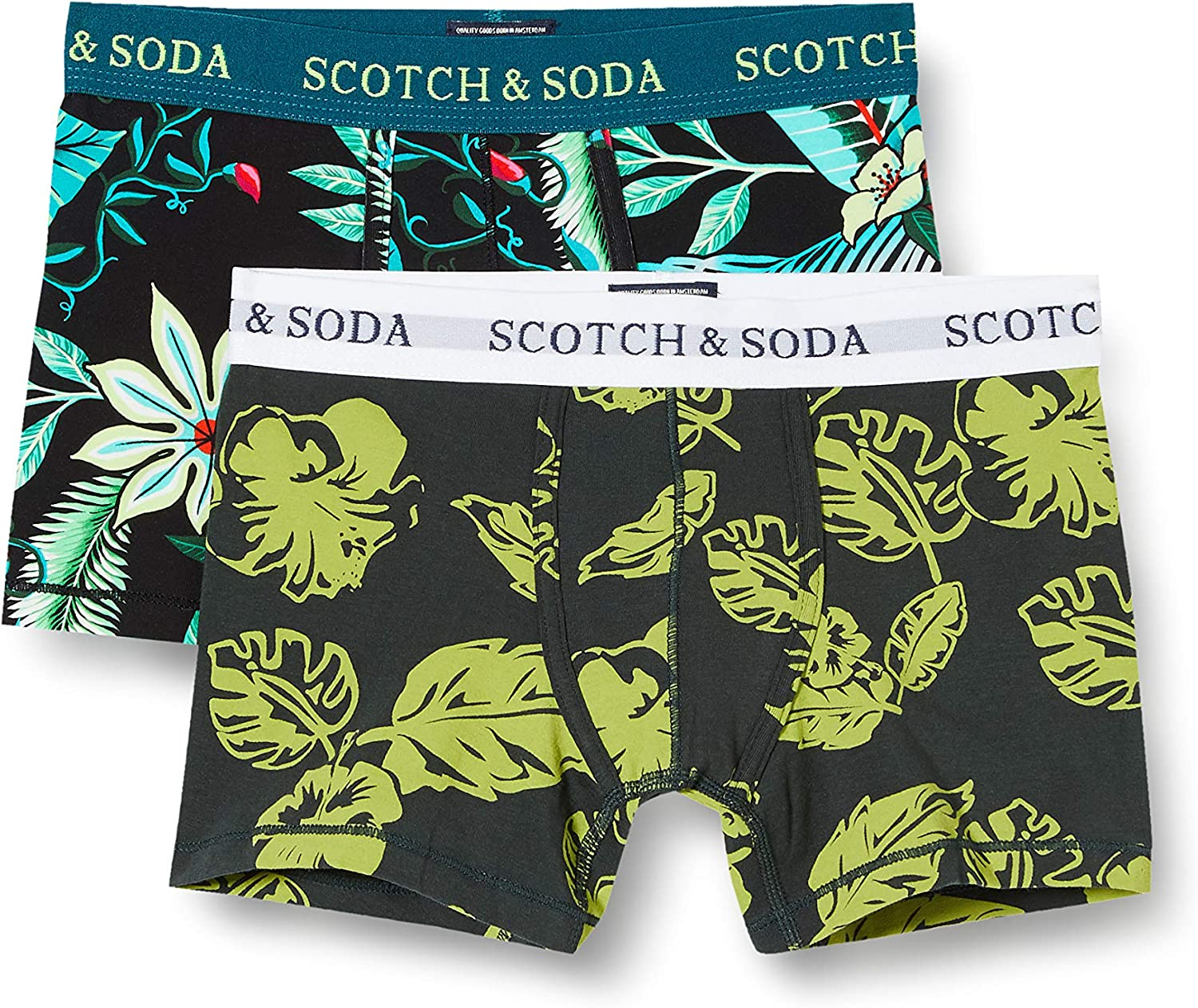 Scotch /& Soda Boys All-over Printed Duo Pack Boxershorts Boxer Shorts