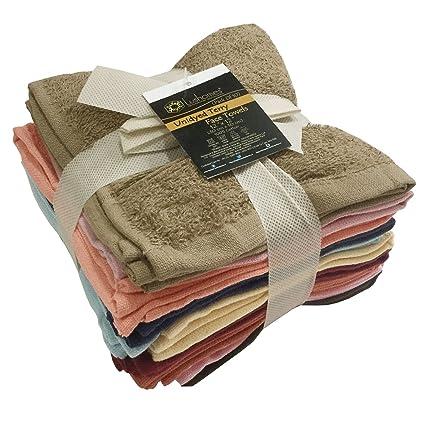 Lushomes Cotton Face Towel (12x12-inch) - Multicolour