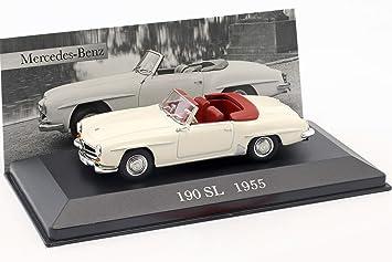 Mercedes Benz 190 SL W121 B2 Baujahr 1955 creme weiß 1:43 Ixo Altaya