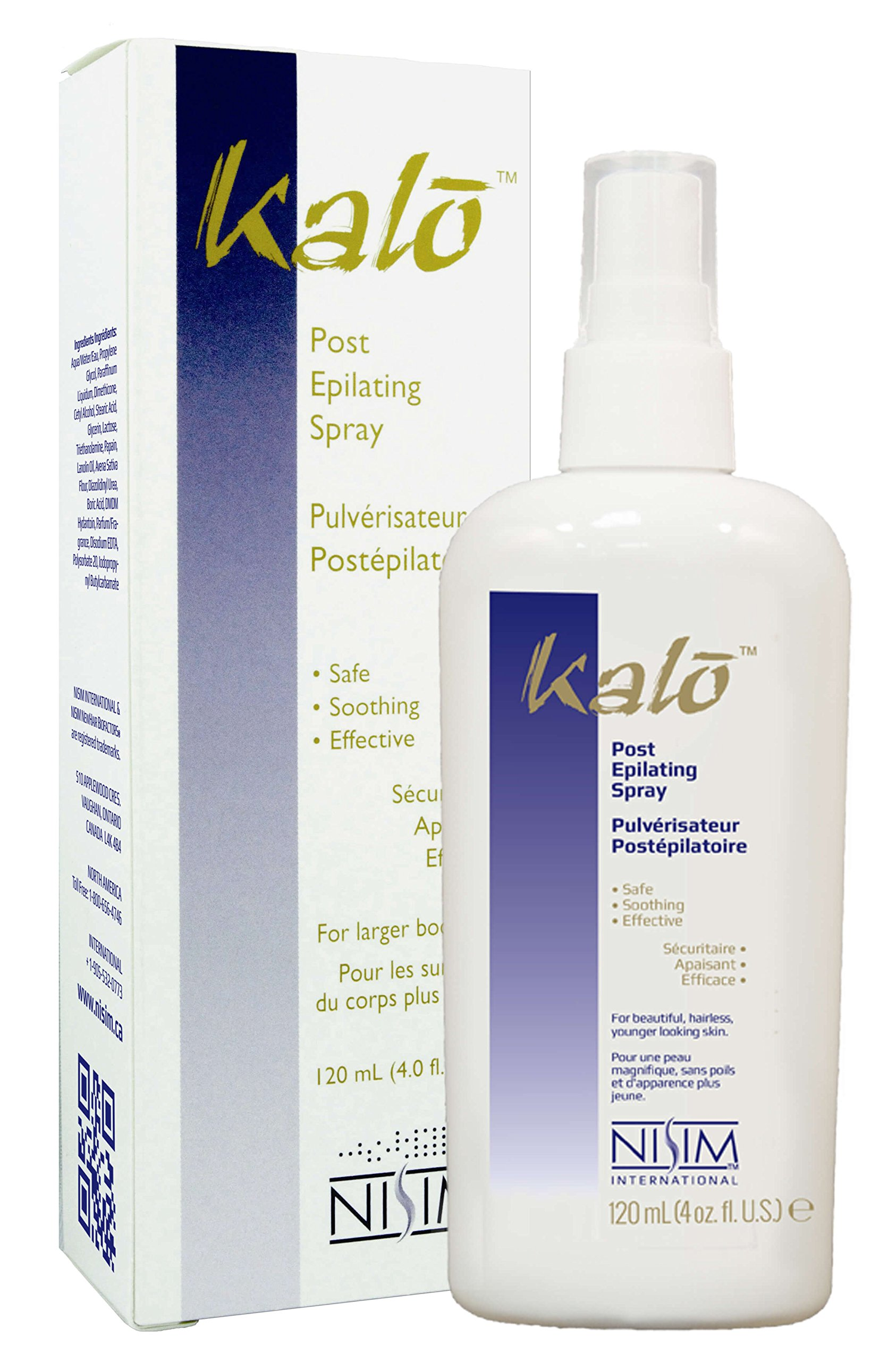 NISIM Kalo Post Epilating Spray - Hair Growth Inhibitor To Stop Unwanted Hair Growth For Both Men & Women, Safe For all External Body Parts (4 Ounce / 120 Milliliter)  by Nisim