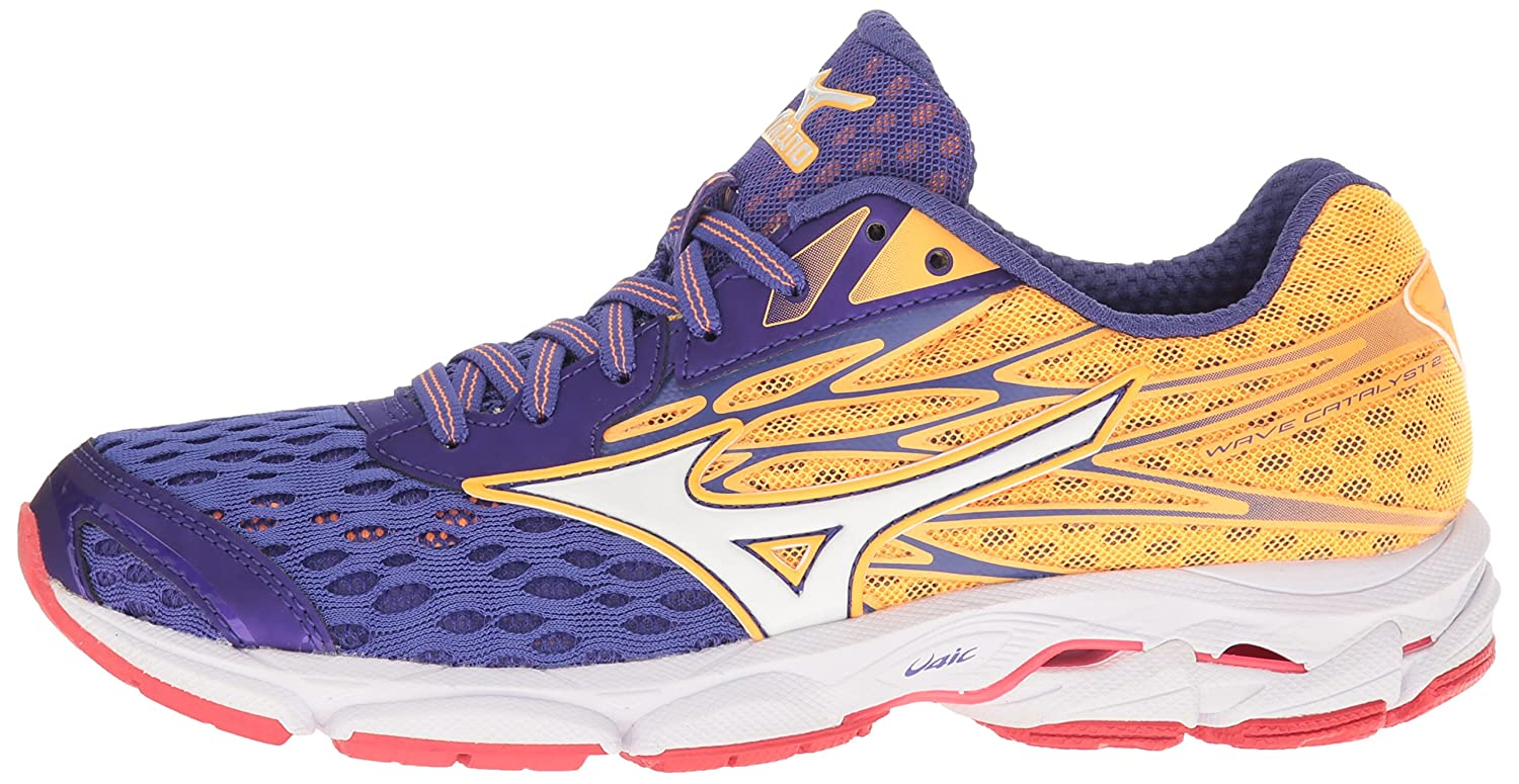 Mizuno Women's Wave Catalyst 2 Running Shoe B01H3EFZOQ 8 B(M) US|Purple/Orange Popsicle