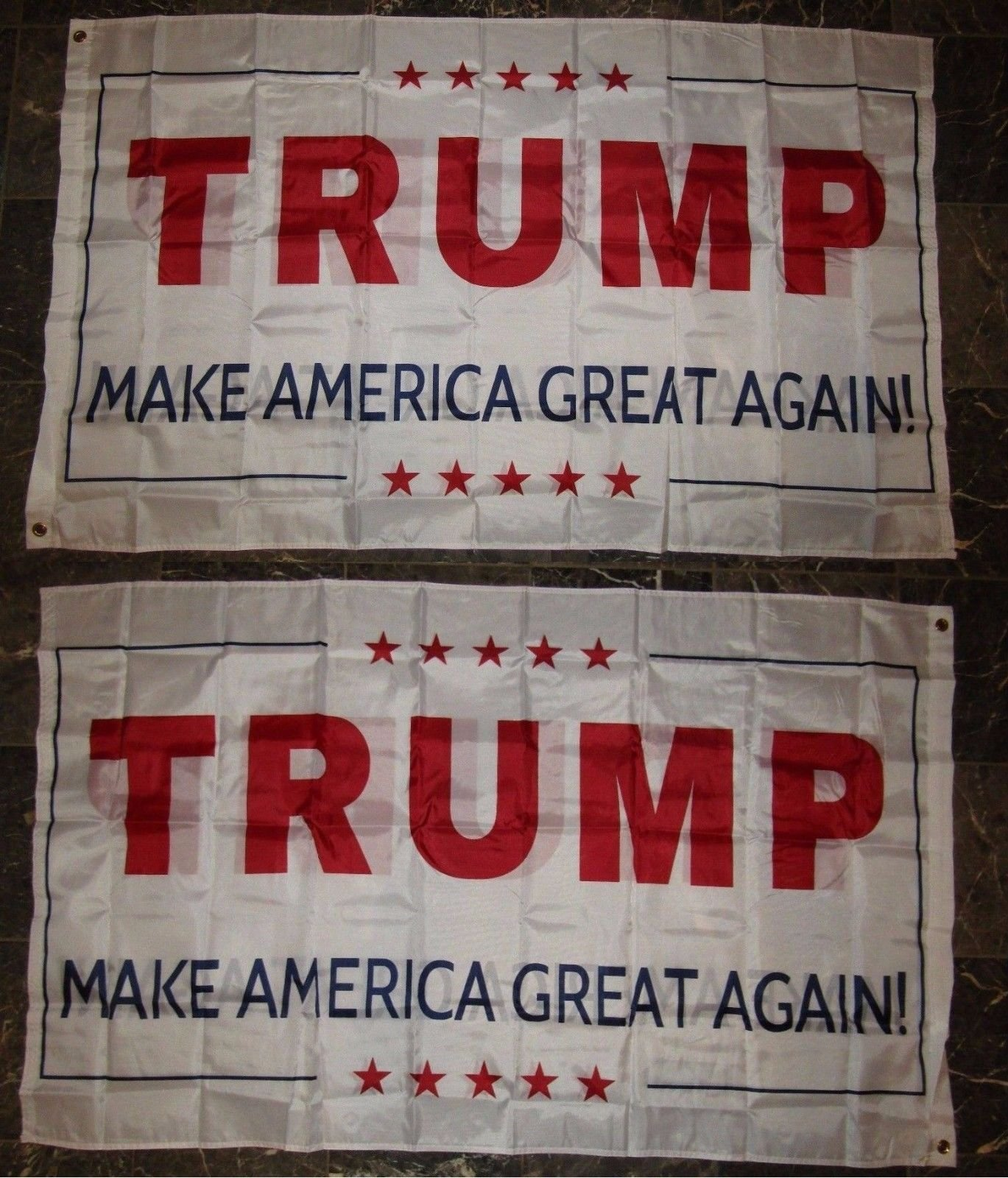 3X5 Make America Great Again White 2 Faced 2-Ply Wind Resistant Flag 3X5Ft