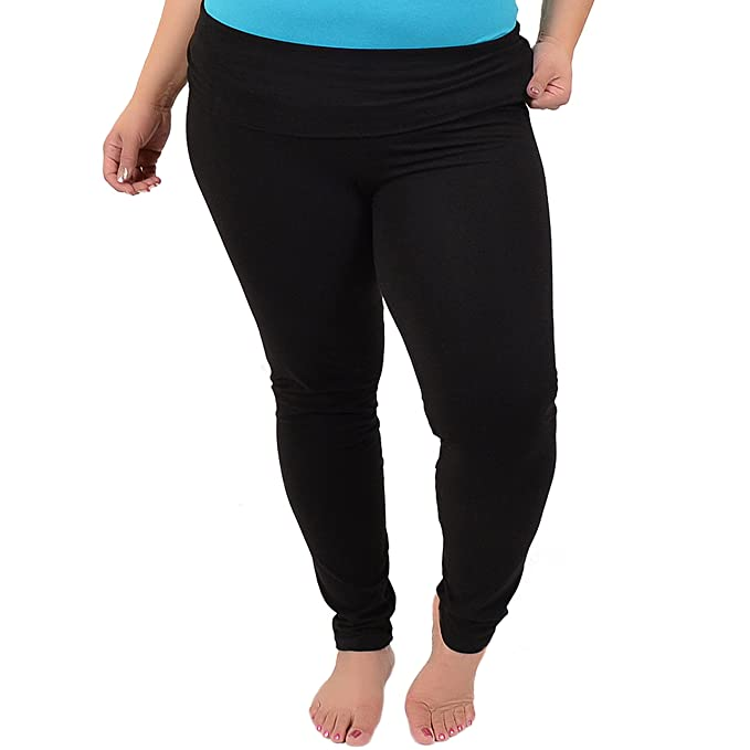 1e3bf2301f1 Stretch is Comfort Women s Plus Size Foldover Ankle Length Cotton Leggings  X-Large