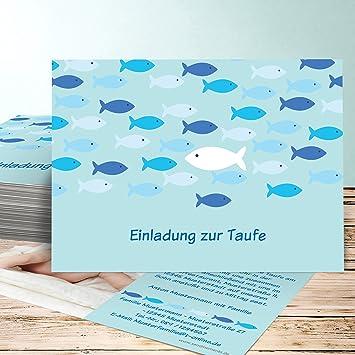 Einladungskarten Für Taufe Selber Basteln Guppy 90 Karten