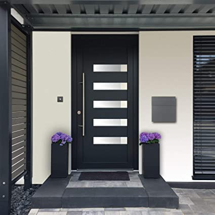 MOCAVI Box 570 - Buzón de pared (acero inoxidable, resistente a la intemperie), color gris: Amazon.es: Bricolaje y herramientas
