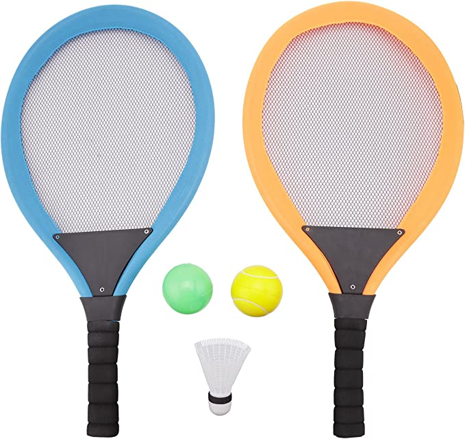 1 Set Kids Badminton Toys Set including Racket Shuttlecock Tennis With Backpack Children Outdoor Sports Games