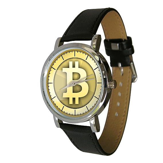 Reloj con diseño de Bitcoin, con una correa de piel: YWD ...