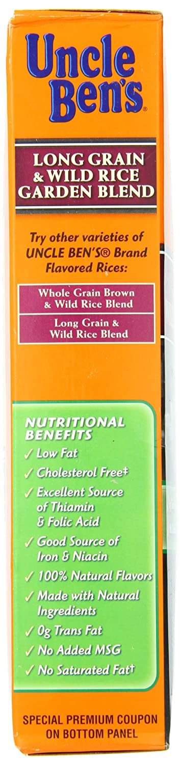 Amazon.com : Uncle Bens Long Grain Wild Rice Garden Blend, 36 Ounce : Rice Produce : Grocery & Gourmet Food