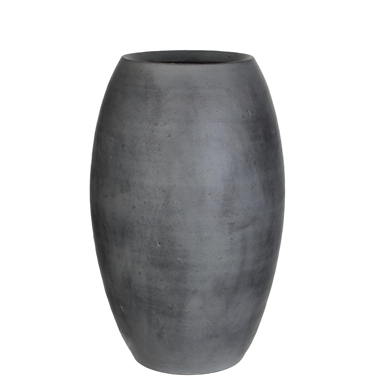 MICA Decorations 240678Vera Vase, Grey