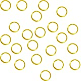Rockin Beads Soldered Closed 100 Jump Rings, Gold Plated, 8mm Round, 21 Gauge