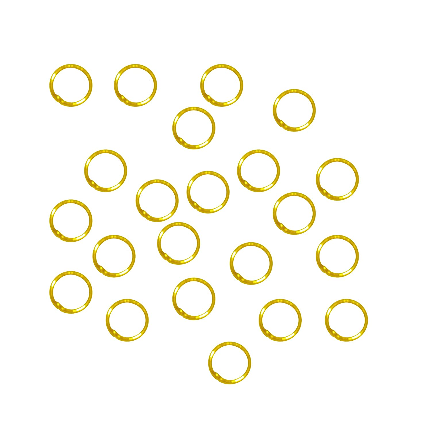 21 Gauge Rockin Beads Soldered Closed 100 Jump Rings 8mm Round Gold Plated