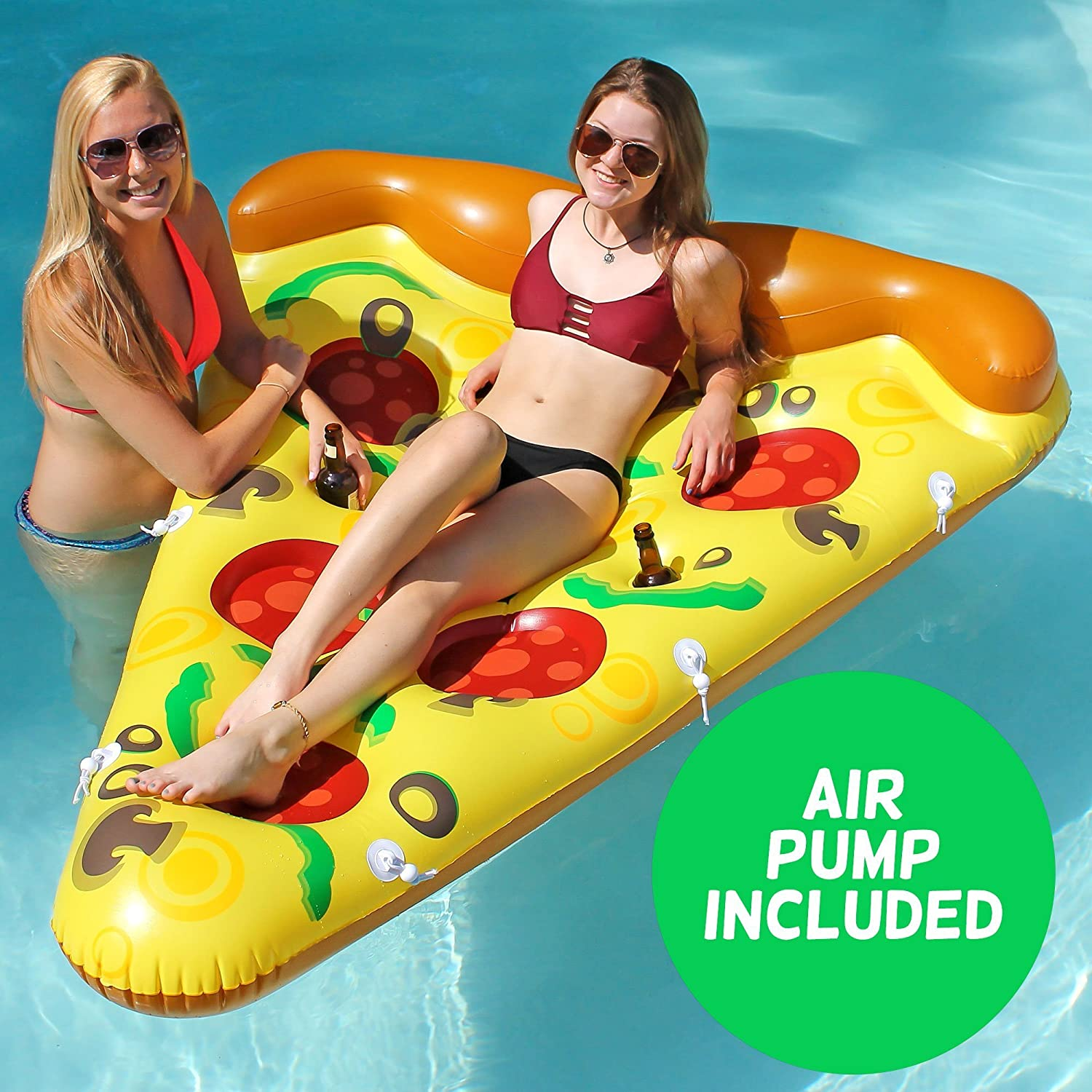 Amazon Luxury Inflatable Pizza Pool Float Includes Pump