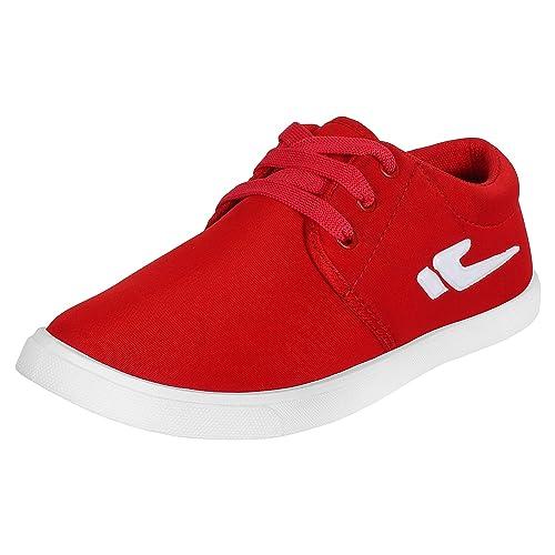 \u0026 Trendy Look Canvas Red Sneakers 1062_