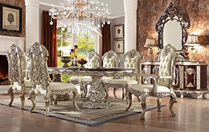 Amazon.com - Inland Empire Furniture Viviana 9 Piece Formal Dining ...