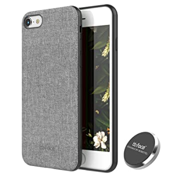 newest b3f55 96865 iPhone 7/8 Magnetic Case Fabric Textured Pattern Back Cover Case ...