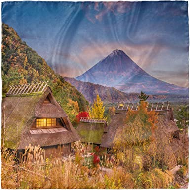 Landscape of Mountain Ambesonne Photo Head Scarf Hair Wrap