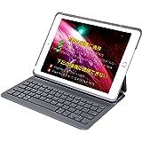 Inateck iPad 第6世代(2018)、第5世代(2017)、iPad Air 1用 キーボードカバー,ダークグレー